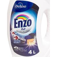 Средство для стирки жидкое 4л для темных тканей DELUX BLACK ENZO 1/4