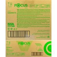 Полотенце бумажное листовое 1-сл 200 лист/уп*15 230х210 мм V-сложения FOCUS ECO БЕЛОЕ HAYAT 1/1 (арт. 5049975)