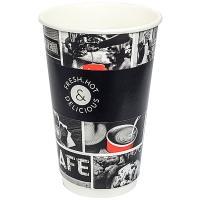 Стакан бумажный 400мл D90 мм 2-сл для горячих напитков CAFE NOIR HUHTAMAKI 1/18/432