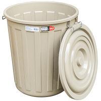 Бак мусорный круглый 48л H480хD430 мм с крышкой на зажимах ПЛАСТИК КОРИЧНЕВЫЙ BORA 1/1 (арт. 713)