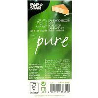 Упаковка для бутербродов, сэндвичей ДхШхВ 123х123х52 мм треугольная КРАФТ PAPSTAR 1/50/500 (арт. 85691)