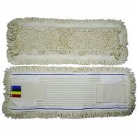 Купить насадка - моп (mop) для швабры ш 500 мм плоская с карманами и ушками хлопок textop 1/50 в Москве