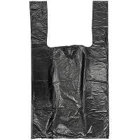 Купить пакет майка 240х440 мм 20 мкм суперпрочный эконом пнд черный 1/100/5000 в Москве