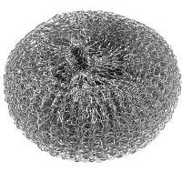 Купить губка (мочалка) для мытья посуды металлическая d100 мм 1 шт/уп 40 г mega металл york 1/80 в Москве