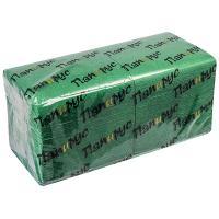 Купить салфетка бумажная зеленая 24х24 см 1-сл 400 шт/уп папирус 1/18 в Москве
