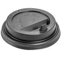 Купить крышка для стакана d80 мм с закрытым питейником ps черная 1/100/1000 в Москве
