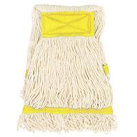 Купить насадка - моп (mop) для швабры веревочная петлевая с желтой прошивкой kentucky 350 г белая хлопок hunter 1/35 в Москве