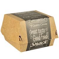 Купить упаковка для гамбургера дхшхв 90х90х70 мм с дизайном good food! эко картон papstar 1/125/500 в Москве