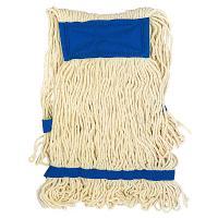 Купить насадка - моп (mop) для швабры веревочная петлевая с синей прошивкой kentucky 450 г белая хлопок hunter 1/25 в Москве