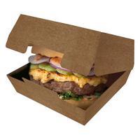 Купить упаковка для гамбургера дхшхв 115х115х60 мм крафт темный gdc 1/50/150 в Москве