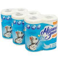 Купить набор бумаги туалетной 2-сл 4 рул/уп*3 мягкий знак deluxe сцбк 1/1 в Москве