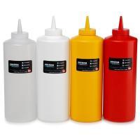 Купить дозатор 950мл для соуса пластик красный bora 1/50 в Москве