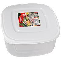 Купить контейнер квадратный 0.85л дхшхв 140х140х70 мм крышка белая пластик bora 1/72 в Москве