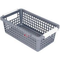 Купить корзинка дхшхв 222х120х74 мм пластик темно-серая bora 1/72 в Москве
