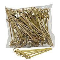 Купить пика декоративная узелок н100 мм 100 шт/уп для канапе бамбук 1/40 в Москве