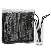 Купить соломка (трубочка) для коктейля н210хd5 мм 250 шт/уп pp черная 1/48 в Москве