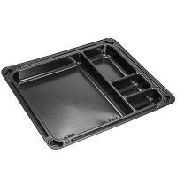 Купить упаковка для суши дхшхв 182х160х19 мм без крышки 4-секционная прямоугольная ps черная к 1/900 в Москве