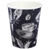 Купить стакан бумажный 250мл d80 мм 1-сл для горячих напитков barista black pps 1/50/1000 в Москве