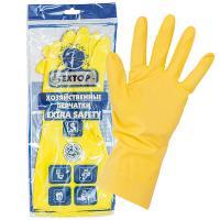 Купить перчатки хозяйственные s особопрочные extra safety латекс textop 1/12/144 в Москве