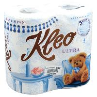 Купить бумага туалетная 3-сл 4 рул/уп kleo ultra белая сцбк 1/18 в Москве