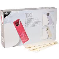Купить куверт (конверт) для столовых приборов дхш 235х72 мм 100 шт/уп с салфеткой кремовый papstar 1/5 в Москве