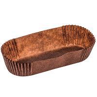 Купить капсула бумажная (тарталетка) овал дхшхв 105х40х25 мм коричневая 1/1000/10000 в Москве
