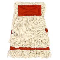 Купить насадка - моп (mop) для швабры веревочная петлевая с красной прошивкой kentucky 350 г белая хлопок hunter 1/35 в Москве