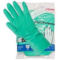 Купить перчатки хозяйственные l многоцелевые латекс зеленые vileda 1/10/50 в Москве