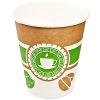 Купить стакан бумажный 300мл d90 мм 1-сл для горячих напитков чай зеленый&кофе v 1/50/800 в Москве