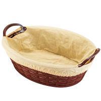 Купить корзинка для хлеба дхшхв 240х172х90 мм с ручками и чехлом овальная пластик темно-коричневая bora 1/72 в Москве
