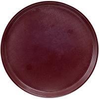 Купить поднос круглый d355 мм противоскользящий пластик коричневый bora 1/48 в Москве