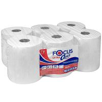 Купить полотенце бумажное 2-сл 150 м в рулоне*6 н200хd170 мм focus extra quick белое hayat 1/1 в Москве