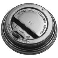 Купить крышка для стакана d80 мм с клапаном ps черная 1/100/1000 в Москве