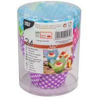 Купить капсула бумажная (тарталетка) тюльпан н85хd50 мм цвет в ассортименте papstar 1/24/144 в Москве