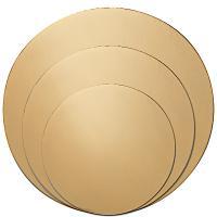 Купить подложка d320 мм 0,8 мм под торт картон золотистая 1/100 в Москве