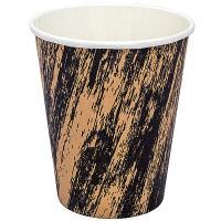 Купить стакан бумажный 250мл d80 мм 1-сл для горячих напитков крафт гранж pps 1/50/1000 в Москве