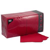 Купить салфетка бумажная красная 33х33 см 3-сл 250 шт/уп papstar 1/4 в Москве
