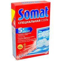 Купить соль 1,5кг для посудомоечных машин somat henkel 1/7 в Москве
