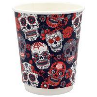 Купить стакан бумажный 250мл d80 мм 2-сл для горячих напитков santa muerte pps 1/20/500 в Москве