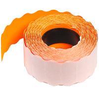 Купить лента этикеточная дхш 26х12 мм самоклеющаяся с волнистым краем оранжевая 1/10 в Москве