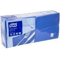 Купить салфетка бумажная синяя 33х33 см 2-слойные 200 шт/уп tork sca 1/10 в Москве