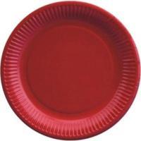 Купить тарелка бумажная d230 мм картон красный papstar 1/50/500 в Москве