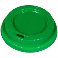 Купить крышка для стакана d80 мм с открытым питейником ps зеленая 1/100/1000 в Москве
