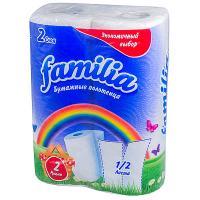 Купить полотенце бумажное 2-сл 2 рул/уп familia радуга белое hayat 1/16 в Москве