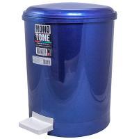Купить контейнер мусорный круглый 20л н415хd310 мм с педалью пластик синий bora 1/6 в Москве