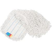 Купить насадка - моп (mop) для швабры ш 400 мм плоская с карманами хлопок 1/25 в Москве