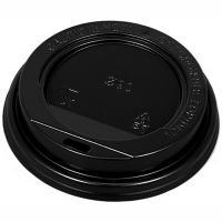 Купить крышка для стакана d90 мм с открытым питейником ps черная 1/100/1200 в Москве