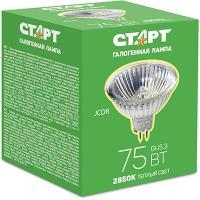 Купить лампа галогенная gu5.3 теплый свет 75w 220v старт 1/10 в Москве