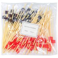 Купить пика декоративная куб черный и красный н90 мм 100 шт/уп для канапе бамбук 1/40 в Москве