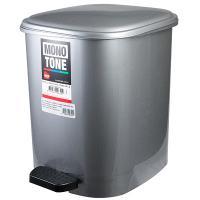 Купить контейнер мусорный прямоугольный 10л дхшхв 250х320х290 мм с педалью пластик темно-серый bora 1/6 в Москве